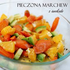 pieczona marchew z awokado
