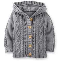 Hooded Sweater Jacket ($16) ❤ liked on Polyvore featuring baby, kids, baby girl, kids clothes and maternity