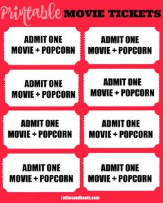 DIY tickets for movie night | Ticket template, Movie tickets and Movie