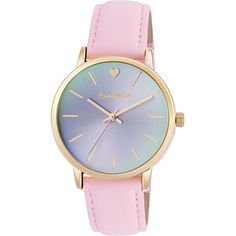 Accessorize Patricia Pink Fabric Strap Watch ($58) ❤ liked on Polyvore featuring jewelry, watches, accessories, bracelets and accessorize jewelry