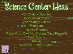 Yippee! A stunning post from Ari of The Science Penguin! You are going to get a ton of great ideas! A Science Content Center as part of your centers rotation can be a lot of fun for your students! Even your hard-to-reach students will love going to the Science Center. I have been thinking a lot about how I want to change my science center
