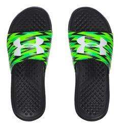 9cc61b54b8135e Under Armour Boy s Strike Flash Slides Under Armour Shoes