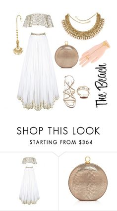 """Wedding Guest: What to Wear - Beach Wedding"" by rajjewels ❤ liked on Polyvore featuring Halston Heritage and Jimmy Choo"