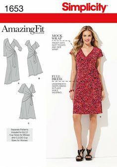 Simplicity - 1653 patroon Amazing Fit jurk | Naaipatronen.nl | zelfmaakmode patroon online