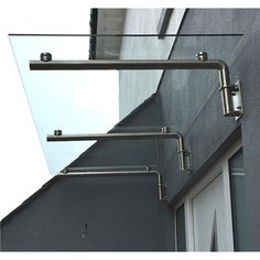 Glass Door Canopy Porch Stainless Steel Balcony Shelter Awning Cover 1800mm Wide | eBay £600