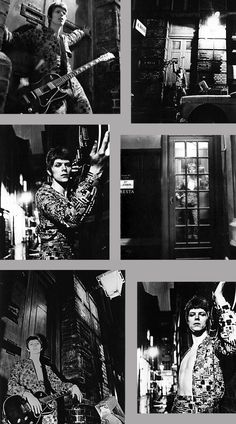 """1972 David Bowie """"ZIGGY STARDUST"""" Photos outtakes at Heddon Street of London. Photos by Brian Ward."""
