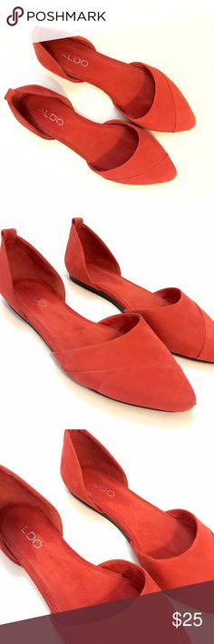Pink Pointed Aldo Suede Flats Have been worn 4-5x, but overall condition is perfect!!! Picture shows all and fits true to size! Aldo Shoes Flats & Loafers
