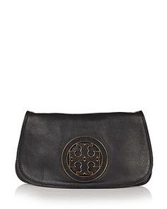 249680279 Tory Burch Amanda Clutch | Bloomingdale's Black Clutch, Leather Clutch,  Satchel Purse, Stylish