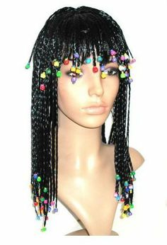 Ladies Black Cleopatra Wig Braids Costume Accessory Party Wig by AMC. $16.99. Fancy Dress Costume Party Wig. Comfortable enough to wear daily and won't damage your own hair.. Size: One Size Fits All.. Material: Imported Fibril.. Features:Comfortable enough to wear daily and won't damage your own hair.Fancy Dress Costume Party WigSpecifications:Material: Imported Fibril.Size: One Size Fits All.Style: Braided Wig w/ Colorful BeadsColors: BlackPackage Include:1 x Wig