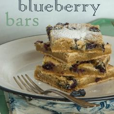 Browned Butter Blueberry Bars