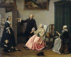 Het doktersbezoek, Elisabeth Geertruida Wassenbergh, 1750 - 1760