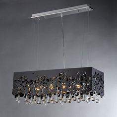 Warehouse of Tiffany Apollon Black Shaded RL7903-2 Crystal Island Light | from hayneedle.com
