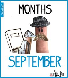 September, months of the year in English. September back to school English Study, English Words, English Lessons, Learn English, Name Of Months, Months In A Year, Months In English, Youtube English, Listening English