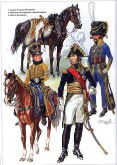 Napoleon Généraux 1792-1809 1-Joseph-Francois Bernadotte 2-Maréchal Jean-Baptiste-Jules Bernadotte 3-Aide de camp de Bernadotte