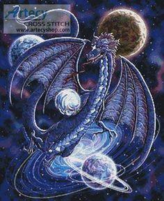 dragon and fairy cross stitch patterns   dragon fantasy more designs by tereena clarke celestial dragon ...