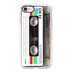 Vintage 80's Cassette Tape - iPhone 7 Case, iPhone 7 Plus Case, iPhone... ($40) ❤ liked on Polyvore featuring accessories, tech accessories, iphone case, iphone cover case, iphone cases, 80s iphone case, apple iphone cases and vintage iphone case