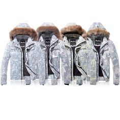 Fashion Personality Face Printed Detachable Cap Nagymaros Collar Thin Slim Men's Short Down Jacket -2