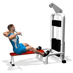 The exercise involves the rear part of the deltoids and partially also the lats and the traps. It can be performed to develop the mass of the rear deltoid.