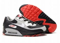 the best attitude 6cb57 041d6 Cheap Purchase Nike Air Max 90 Mens Premium Trainers Black Grey Red And  White Sneaker Online Shop Store
