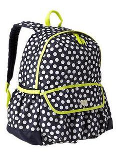 Gap Kids Senior Polkadot Backpack