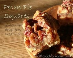 Here is a lower GI version of a favourite of mine - Pecan Pie. Before I properly committed to being gluten-free and low GI, I used to LOVE getting the pastry versions of this from the supermarket b...