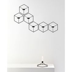 Menu POV Wall Candleholder by Note