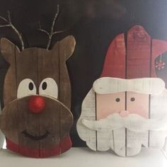 Check out this project on RYOBI Nation - My father in law has a million pallets. A MILLION. So I decided to try and make some things. We made a couple of small tables, and I made these Christmas Door Hangers for Christmas presents for the family.