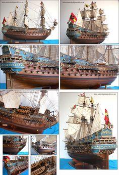 Admiralty Ship Models Ltd San Felipe 1690 Model Sailing Ships, Spanish Galleon, Scale Model Ships, Model Ship Building, Spanish Armada, Bottom Of The Ocean, Man Of War, Boat Art, Wooden Ship