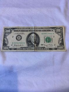 1963A FEDERAL RESERVE NOTE ONE HUNDRED DOLLAR BILL Off Centered Back! See Pics!