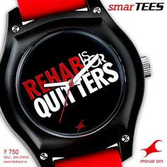 You'll always have the last word. #SmarTEES   www.fastrack.in/product/9951PP08  #Fastrack #Tees #Lines #Watch #Red #Fashion #Rehab
