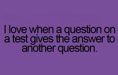 This is always awesome especially when I don't know the answer