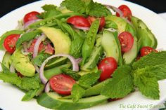 The Café Sucré Farine: Thai Cucumber & Avocado Salad  (with a few modifications for personal taste, think this will be a hit!)