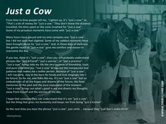 """Its not """"Just a cow"""""""
