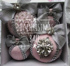 DIY Christmas bauble ornament tutorial ball rhinestone decor holiday gift for her diy new year gift idea Christmas bow homedecor Christmas Diy Christmas Baubles, Christmas Tree Bows, Christmas Decorations, Elegant Christmas, Christmas Candy, Christmas Wishes, Christmas Christmas, Beautiful Christmas, Triquetra