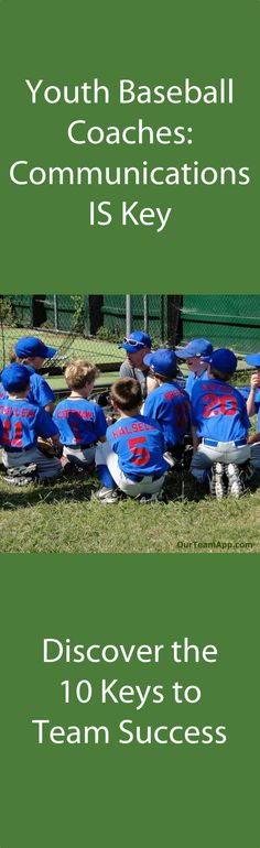 Youth Baseball Coaches- Click the Image to Discover The 10 Keys to Success this Season