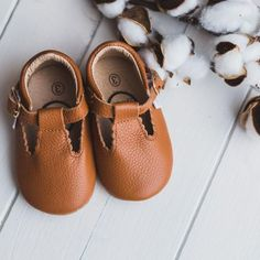 Shop Pecan Brown T bar Moccasin with Rubber Soft Soles (infant/baby/toddler). Toddler Moccasins, Baby Moccasins, Leather Moccasins, Toddler Shoes, Cute Baby Shoes, Baby Girl Shoes, Girls Shoes, Baby Girl Sandals, Little Girl Shoes