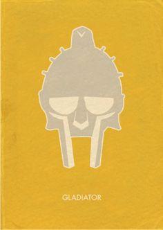 Gladiator (2000) ~ Minimal Movie Poster by Oliver Phillips #amusementphile