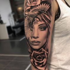 50 sleeve tattoos for women – diy tattoo images – tattoo sleeve women Face Tattoos For Women, Girls With Sleeve Tattoos, Tattoo Girls, Girl Tattoos, Tattoos For Guys, Daughter Tattoos, Forearm Sleeve Tattoos, Best Sleeve Tattoos, Tattoo Arm