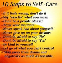 10 Steps to Self-Care