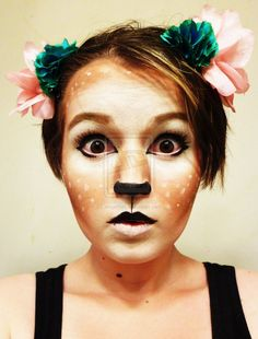 Fawn Makeup - cute for Halloween