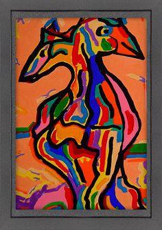 Een mengeling van abstract en figuratief schilderij met een positieve en vrolijke uitstraling. Moose Art, Animals, Painting, Animales, Animaux, Painting Art, Animal, Paintings, Animais