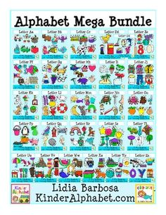 Alphabet Mega Bundle - Phonics Clip Art for Teachers