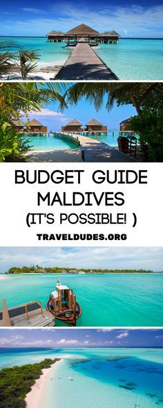 A guide to visiting the Maldives on a budget... it's really possible! Known for its pristine beaches and luxury over water bungalows, the Maldives is known for being an expensive travel destination, but it doesn't have to be! Tips on how to plan a trip to paradise without breaking the bank. | Travel Dudes Travel Community