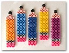 Pencils hama perler beads