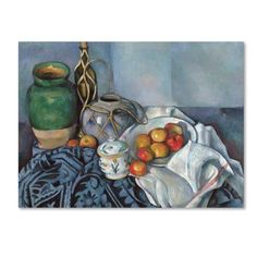 Trademark Fine Art 'Still Life With Apples 2' Canvas Art by Cezanne, Size: 14 x 19, Blue