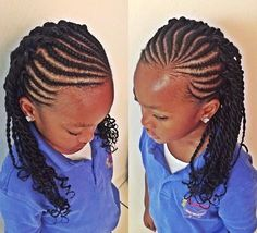 black cornrows and twists hairstyle