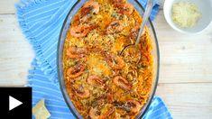ΚΡΙΘΑΡΟΤΟ ΜΕ ΓΑΡΙΔΕΣ ΓΕΜΑΤΟ ΘΑΛΑΣΣΑ Low Sodium Recipes, Orzo, Blue Cheese, Vegetable Pizza, Quiche, Shrimp, Vegetables, Cooking, Breakfast