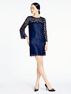 madison ave. collection denisa dress, navy