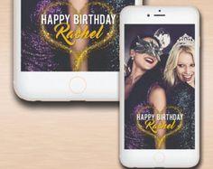 Custom Glitter Birthday Geofilter, Birthday filter geofilter, Happy Birthday, Birthday Snapchat, Birthday celebration, Snapchat Party