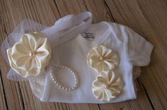 Baptism onesie set.  Christening outfit.  Baby gift.  Baby shower gift.